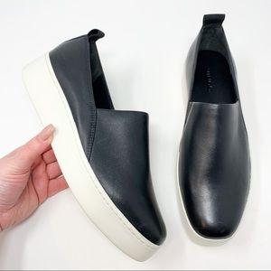 New Vince Saxon 2 Slip-On Platform Sneaker Black
